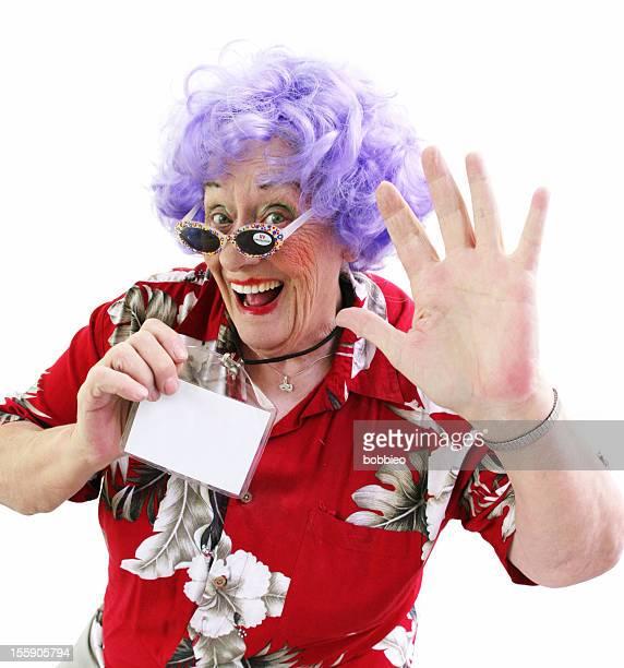 Granny Whack Series: Tourist Waving