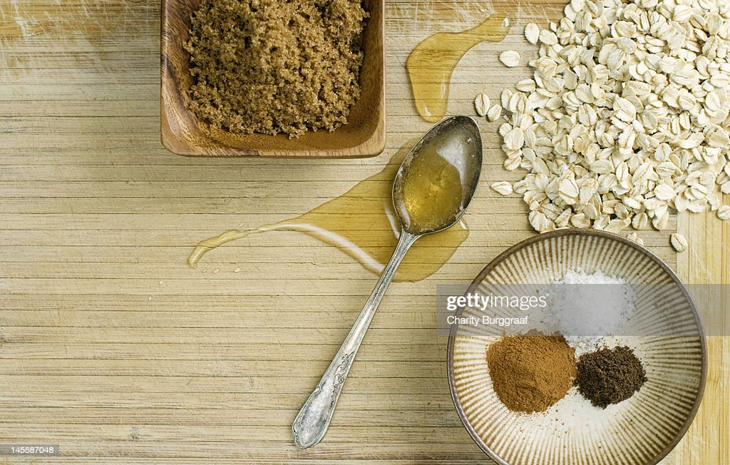 Granola ingredients : Stock Photo