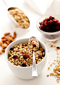 Granola with cranberries and almonds