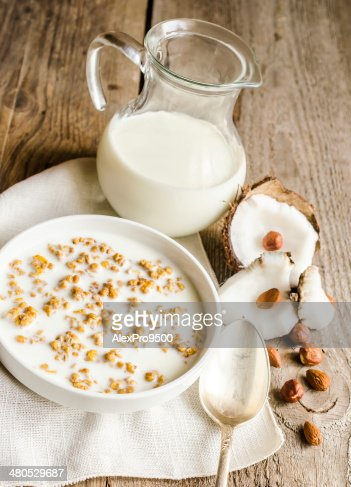 Granola with peanut and coconut : Stock Photo