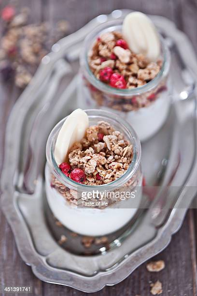 Granola with yogurt