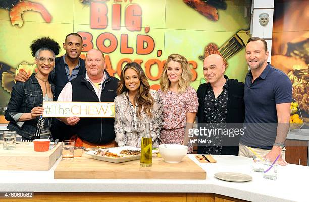 THE CHEW Grant and Tamia Hill are the guests today Wednesday June 3 2015 on ABC's 'The Chew' 'The Chew' airs MONDAY FRIDAY on the ABC Television...