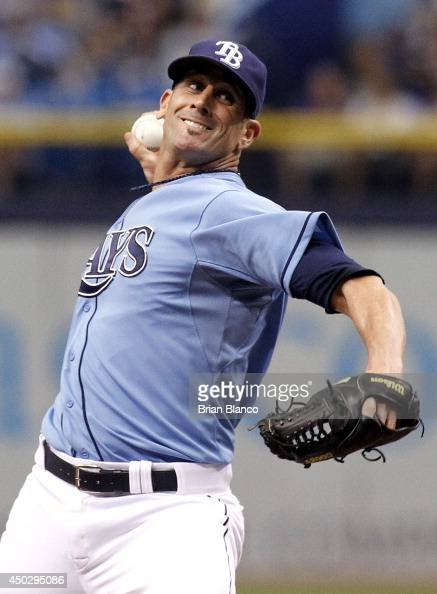 Grant Balfour of the Tampa Bay Rays pitches during the ninth inning of a game against the Seattle Mariners on June 8 2014 at Tropicana Field in St...