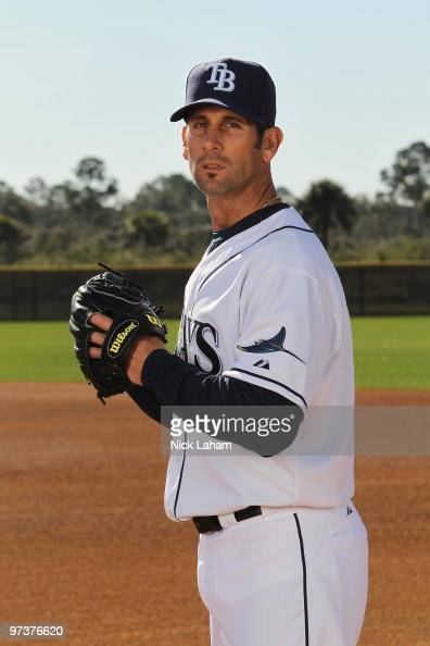 Grant Balfour of the Tampa Bay Rays poses for a photo during Spring Training Media Photo Day at Charlotte County Sports Park on February 26 2010 in...