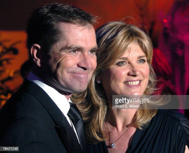 Grant Bovey and Anthea Turner arrive for 'La Dolce Vita' in aid of DEBRA at Battersea Evolution on December 12 2007 in London England