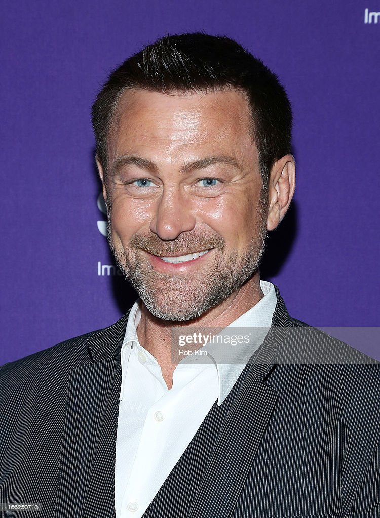 <a gi-track='captionPersonalityLinkClicked' href=/galleries/search?phrase=Grant+Bowler&family=editorial&specificpeople=453292 ng-click='$event.stopPropagation()'>Grant Bowler</a> of 'Defiance' attends Syfy 2013 Upfront at Silver Screen Studios at Chelsea Piers on April 10, 2013 in New York City.