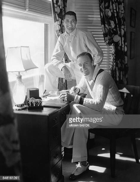 Grant Cary * Actor Great Britain / USA with Randolph Scott in their house in Santa Monica