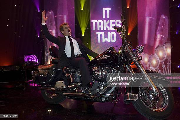 Grant Denyer takes part in the grand final of 'It Takes Too' at the Seven Network's Global Studios on April 22 2008 in Melbourne Australia