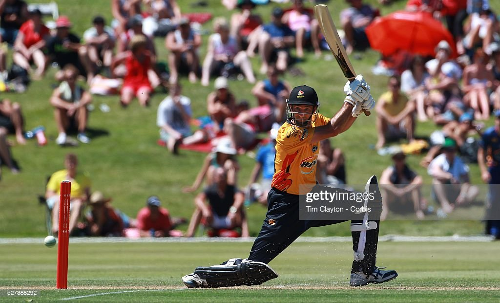 Grant Elliot Wellington in action during the Otago Voltz V Wellington Firebirds HRV Cup match at the Queenstown Events Centre Queenstown New Zealand...