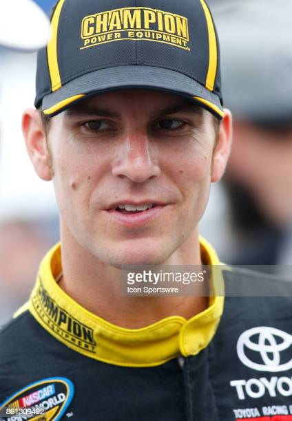 Grant Enfinger Champion Power Equipment / Curb Records Toyota Tundra during qualifying for the Fred's 250 NASCAR Camping World truck race on October...
