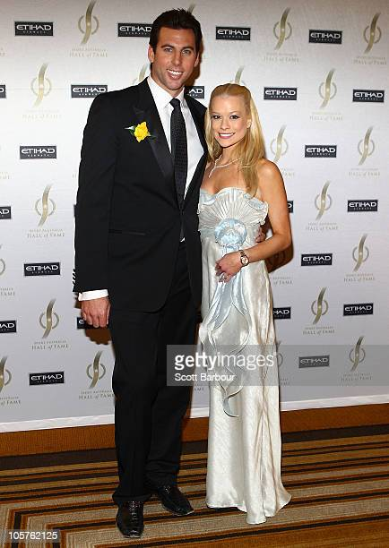 Grant Hackett and wife Candice Alley attend the Sport Australia Hall of Fame at Crown Casino on October 20 2010 in Melbourne Australia