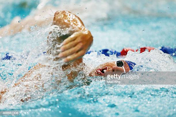 Grant Hackett competes in the Men's 200m Freestyle Semi Final during day two of the Australian National Swimming Championships at Sydney Olympic Park...