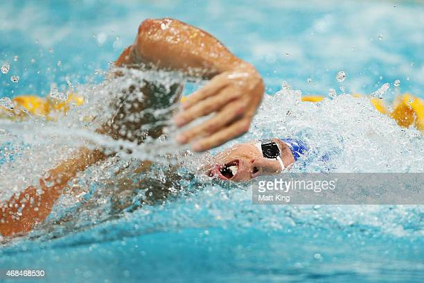 Grant Hackett competes in the Men's 400m Freestyle Final during day one of the Australian National Swimming Championships at Sydney Olympic Park...