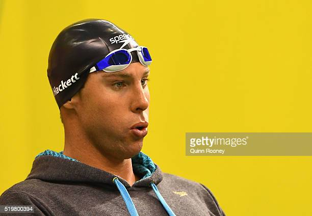 Grant Hackett of Australia prepares to race in the Men's 200 Metre Freestyle during day two of the 2016 Australian Swimming Championships at the...
