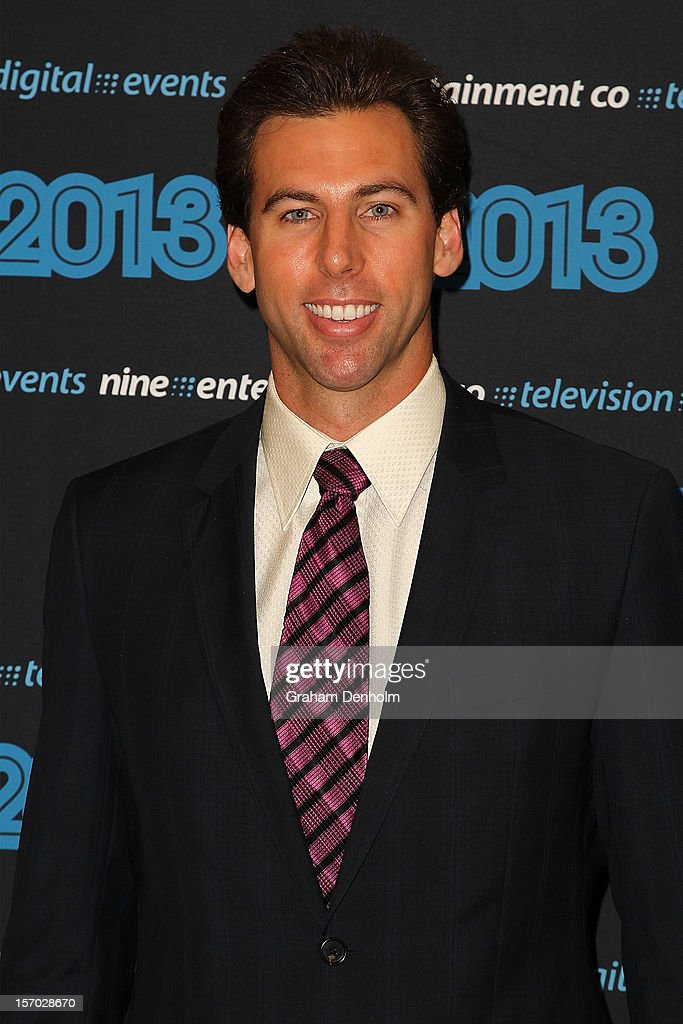 Grant Hackett poses as he arrives at the Nine 2013 program launch at Myer on November 28, 2012 in Melbourne, Australia.