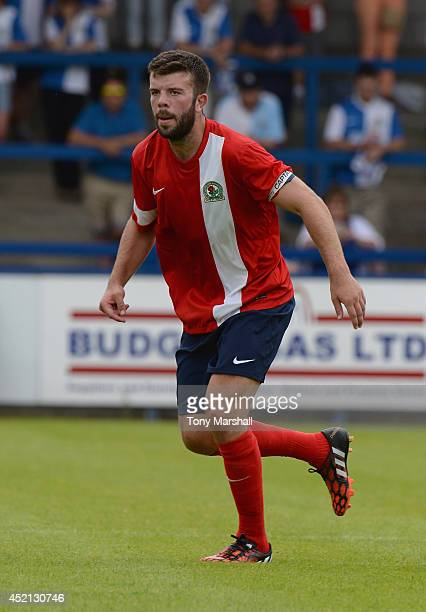 Grant Hanley of Blackburn Rovers during the Pre Season Friendly match between AFC Telford United v Blackburn Rovers at New Bucks Head Stadium on July...