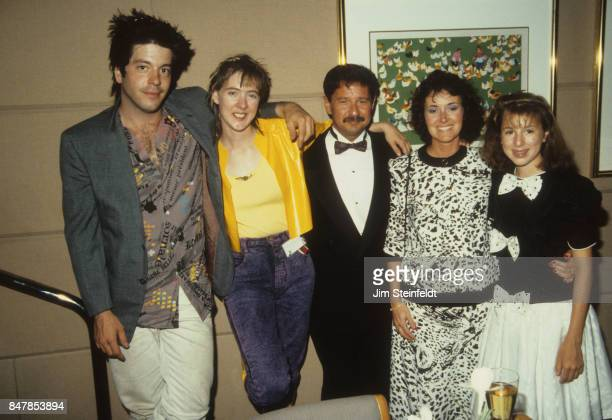 Grant Hart drummer and songwriter for the rock band Husker Du with friends at the Minnesota Music Awards in Minneapolis Minnesota on May 12 1988