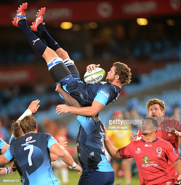Grant Hattingh of the Bulls during the Super Rugby match between Vodacom Bulls and Reds at Loftus Versfeld on April 11 2015 in Pretoria South Africa