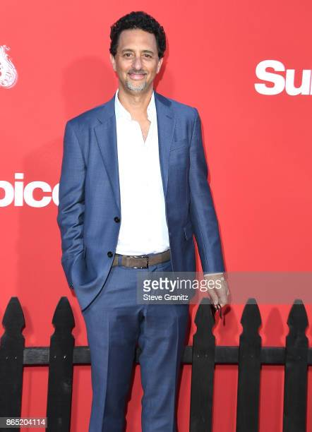 Grant Heslov arrives at the Premiere Of Paramount Pictures' 'Suburbicon' at Regency Village Theatre on October 22 2017 in Westwood California