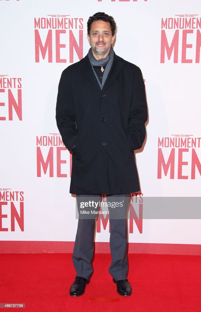 <a gi-track='captionPersonalityLinkClicked' href=/galleries/search?phrase=Grant+Heslov&family=editorial&specificpeople=607201 ng-click='$event.stopPropagation()'>Grant Heslov</a> attends the UK Premiere of 'The Monuments Men' at Odeon Leicester Square on February 11, 2014 in London, England.