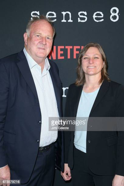 Grant Hill and Cindy Holland attend the Season 2 Premiere of Netflix's 'Sense8' at AMC Lincoln Square Theater on April 26 2017 in New York City