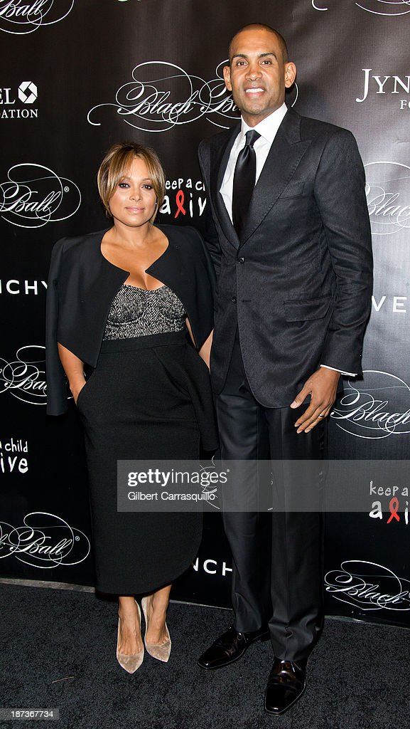 Grant Hill (R) and Tamia attend the 10th annual Keep A Child Alive Black Ball at Hammerstein Ballroom on November 7, 2013 in New York City.