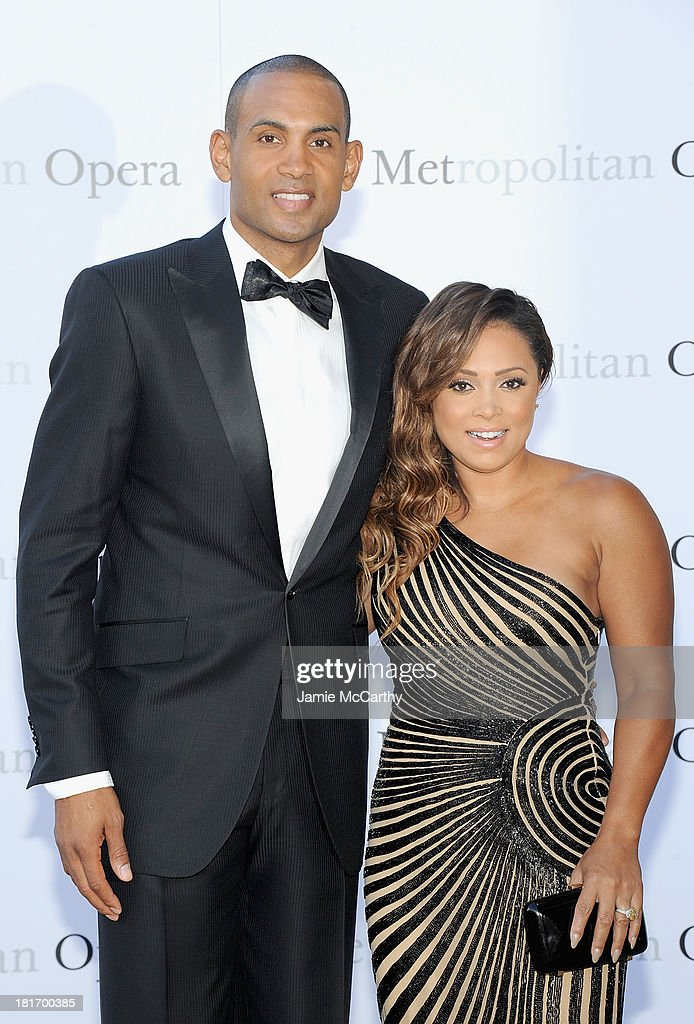 Grant Hill and Tamia attend the Metropolitan Opera Season Opening Production Of 'Eugene Onegin' at The Metropolitan Opera House on September 23, 2013 in New York City.