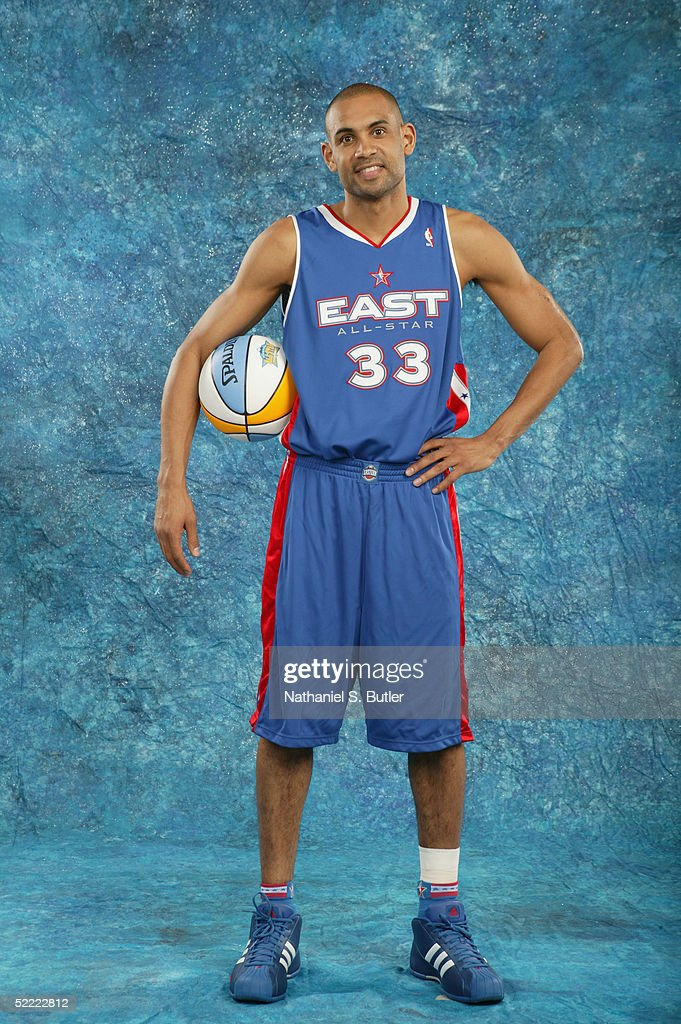 Grant Hill #33 of the Eastern Conference All-Stars poses for a portrait prior to the 54th All-Star Game, part of 2005 NBA All-Star Weekend at Pepsi Center on February 20, 2005 in Denver, Colorado.