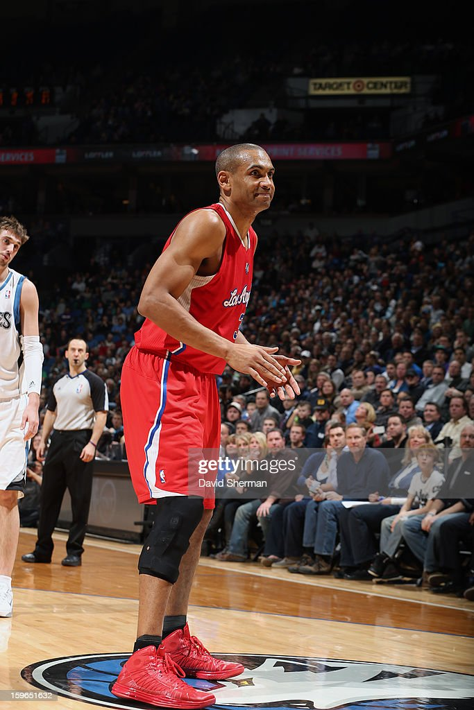 Grant Hill #33 of the Los Angeles Clippers waits for the ball to be inbounded against the Minnesota Timberwolves during the game on January 17, 2013 at Target Center in Minneapolis, Minnesota.