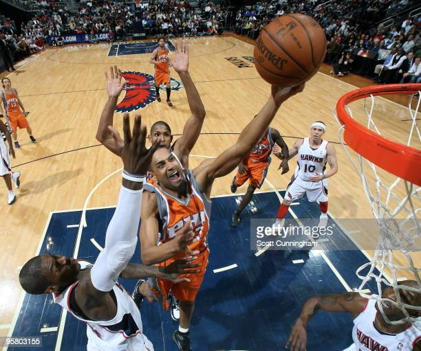 Grant Hill of the Phoenix Suns puts up a shot against the Atlanta Hawks on January 15 2010 at Philips Arena in Atlanta Georgia NOTE TO USER User...