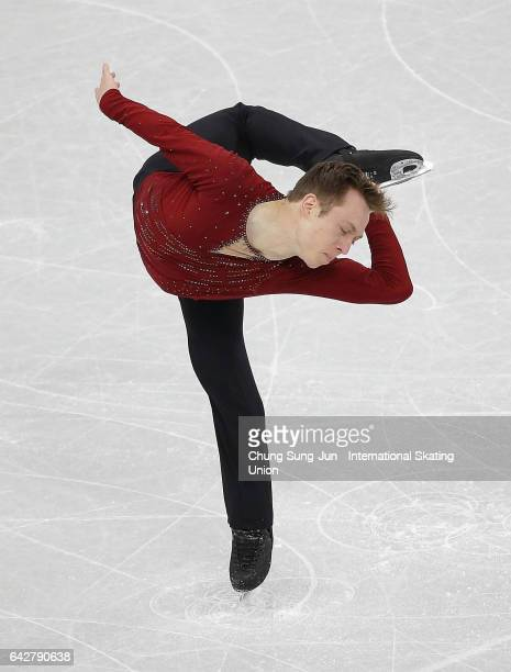 Grant Hochstein of United States competes in the Men free skating during ISU Four Continents Figure Skating Championships Gangneung Test Event For...