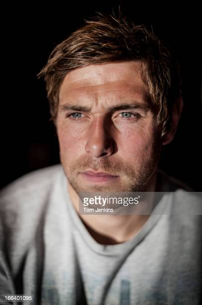 Grant Holt Norwich City footballer poses for a portrait session at the office of Polaris PR agency in London on October 17 2012