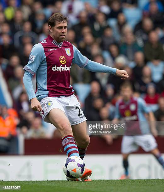Grant Holt of Aston Villa the Barclays Premier League match between Aston Villa and Fulham at Villa Park on April 05 2014 in Birmingham England