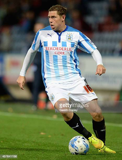 Grant Holt of Huddersfield during the Sky Bet Championship match between Huddersfield Town and Brighton Hove Albion at Galpharm Stadium on October 21...