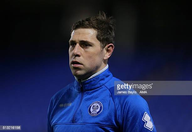 Grant Holt of Rochdale during the Sky Bet League One match between Shrewsbury Town and Rochdale at New Meadow on March 1 2016 in Shrewsbury England