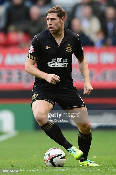 Grant Holt of Wigan Athletic in action during the Sky Bet Championship match between Charlton Athletic and Wigan Athletic at The Valley on October 27...