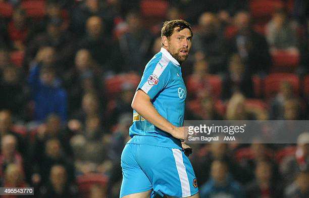 Grant Holt of Wolverhampton Wanderers during the Sky Bet Championship match between Bristol City and Wolverhampton Wanderers at Ashton Gate on...