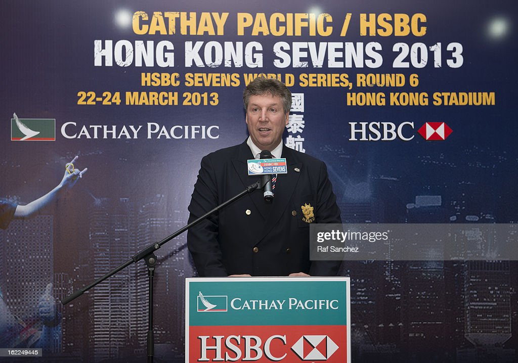 Grant Jamieson, Director of Finance of the HKRFU speaks during the Cathay Pacific/HSBC Hong Kong Sevens 2013 Official Draw held at Hysan Place, on February 21, 2013 in Hong Kong.