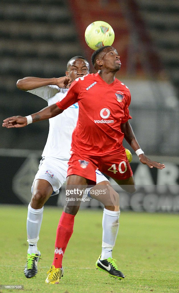 Grant Kekana and William Thwala during the Absa Premiership match between SuperSport United and Chippa United from Lucas Moripe Stadium on April 10, 2013 in Pretoria, South Africa Photo by Lefty Shivambu/Gallo Images