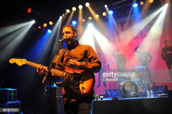 Grant Marsh and Joel Stoker of The Rifles perform on stage at Shepherds Bush Empire on May 2 2014 in London United Kingdom