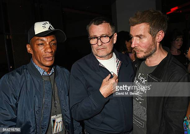 Grant Marshall and Robert Del Naja attend the Massive Attack after party at 100 Wardour St following their performance at the Barclaycard British...