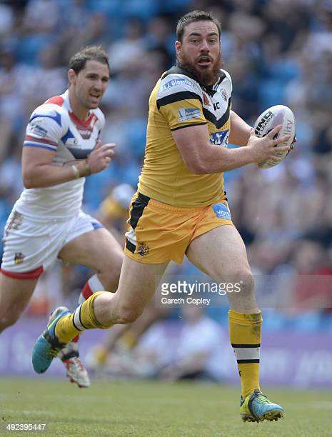 Grant Millington of Castleford Tigers in action during the Super League match between Wakefield Wildcats and Castleford Tigers at Etihad Stadium on...