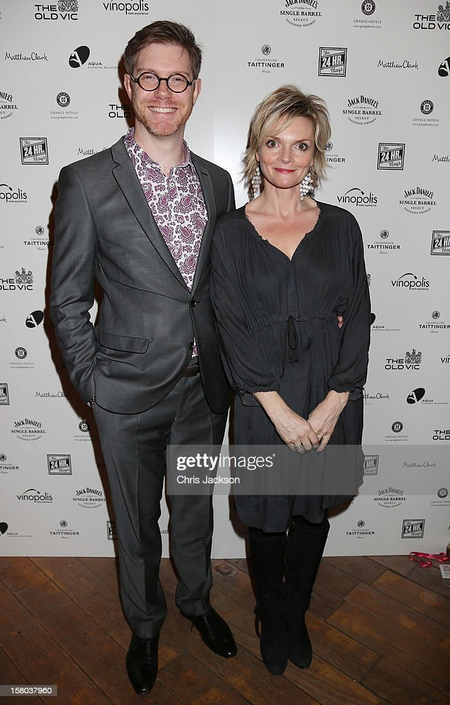 Grant Olding and Sharon Small attend the post-show party, The 25th Hour, following The Old Vic's 24 Hour Musicals Celebrity Gala 2012 during which guests drank Jack Daniels Single Barrel, Curtain Raiser cocktails in The Great Halls, Vinopolis, Borough on December 9, 2012 in London, England.