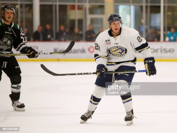 Grant Reichenbacher of the Sioux Falls Stampede skates during the game agains the Cedar Rapids RoughRiders on Day 2 of the USHL Fall Classic at UPMC...