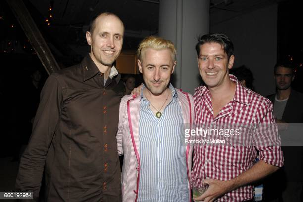 Grant Shaffer Alan Cumming and Eddie Roche attend BOSS ORANGE New Direction Party at 601 West 26th street on July 23 2009 in New York City
