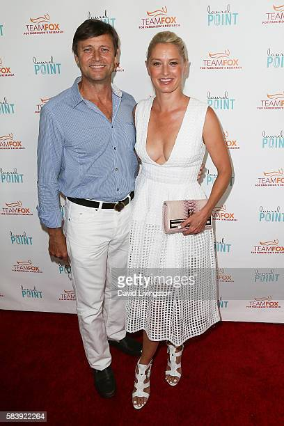 Grant Show and Katherine LaNasa arrive at Raising The Bar To End Parkinson's at Laurel Point on July 27 2016 in Studio City California