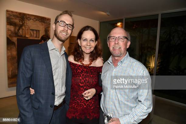 Grant Smith Elisa Turner and Eric Smith attend the Marcelo Bonevardi / The Miami Rail Celebration at Miami Design District on December 8 2017 in...