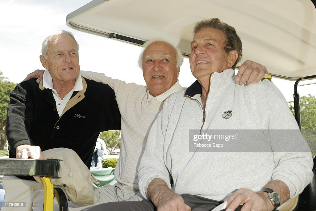 Grant Tinker Robert Loggia and Mike Connors during 6th Annual Academy of Television Arts Sciences Foundation Celebrity Golf Classic at Riviera...
