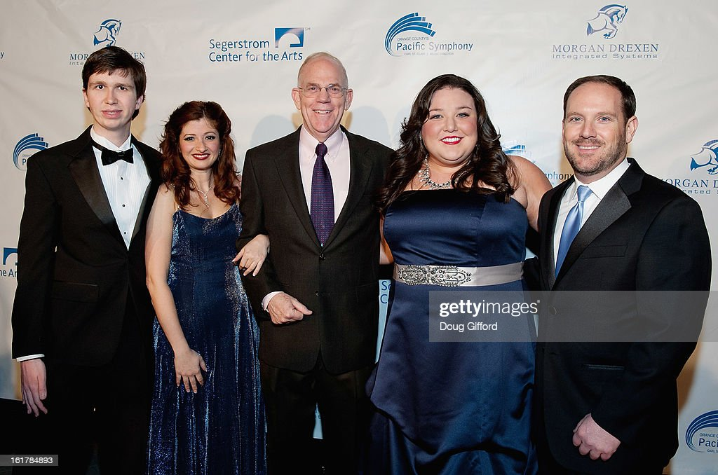 Grant Yosenick, Brook deRosa, Richard Kaufman, Amanda Strader and Monty Linton arrive for the Kenny G performance with the Pacific Symphony 2013 Pops Series at Segerstrom Center For The Arts on February 15, 2013 in Costa Mesa, California.