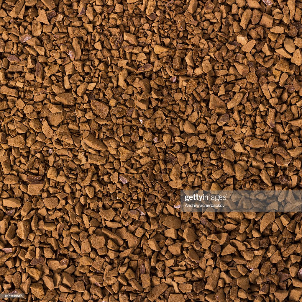 Granule instant coffee background : Bildbanksbilder